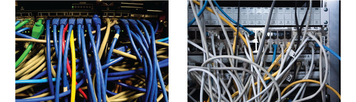 Example of wires not structured